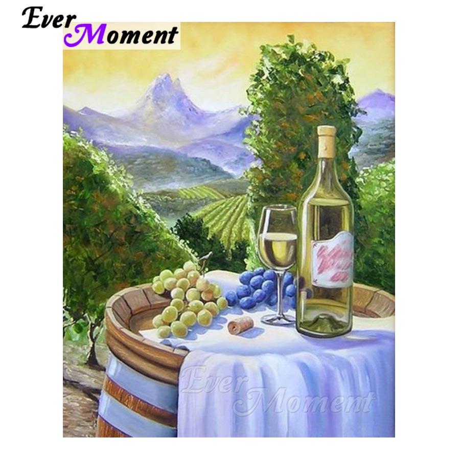 Sempre momento pintura diamante mansão roxo vinho 5d diy decoração para casa diamante bordado ponto cruz quadrado completo s2f333