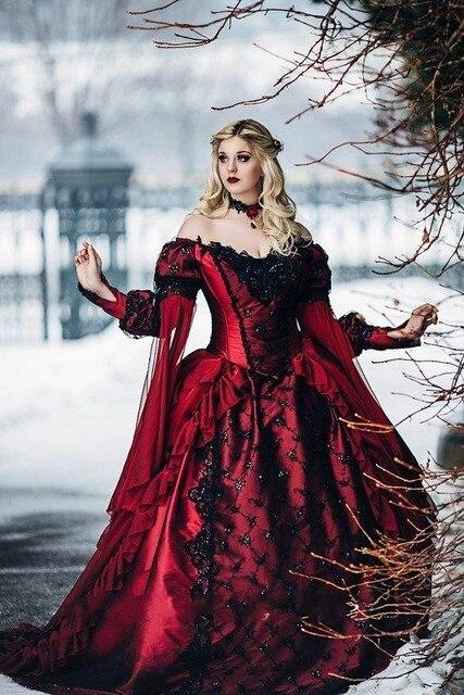 gótico bella durmiente princesa medieval rojo y negro wedding balón