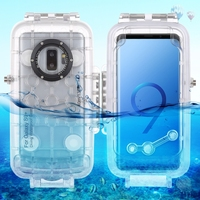 3 Colors 40M Diving Case For Samsung Galaxy S9 Professional Waterpfoof Case For Samsung Galaxy S9 Plus Swimming Surfing Case