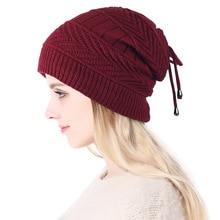 2019 ポニーテールビーニー冬 Skullies ビーニーは女性ファッション多機能暖かい帽子女性屋外女性ニット帽子 z104