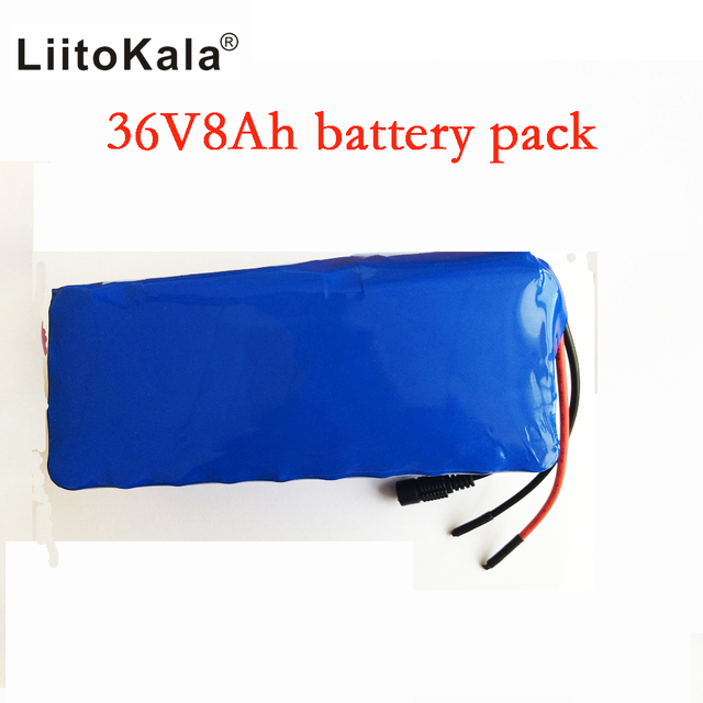 Liitokala 36V 8ah Battery pack High Capacity Lithium Batter pack + 42v 2A chager