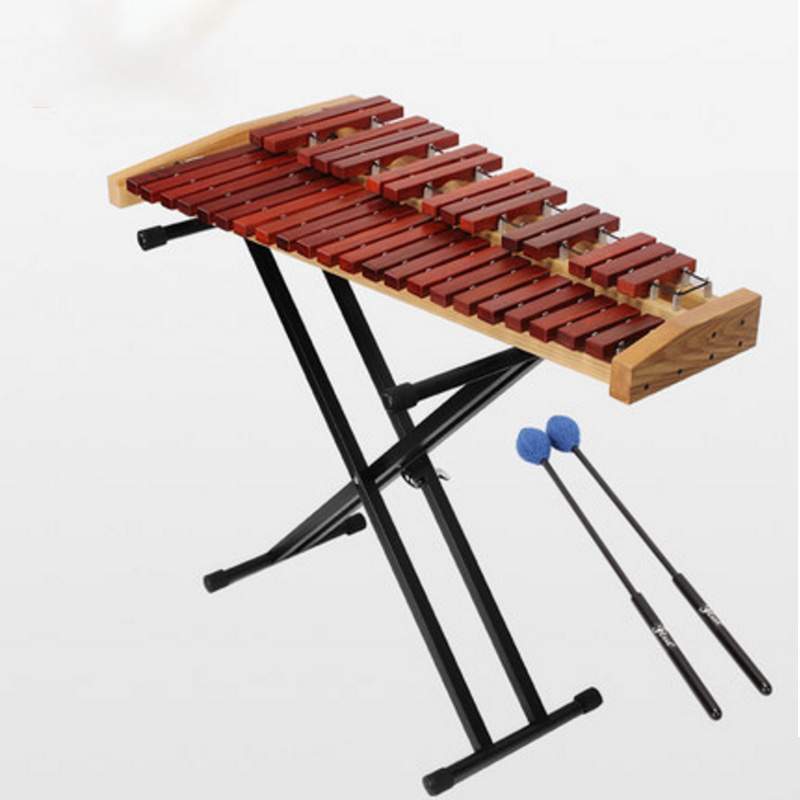 Xylophone Percussion Instrument Adult Professional 37-tone Marimba Playing Instrument Teaching AIDS Mahogany Double Row