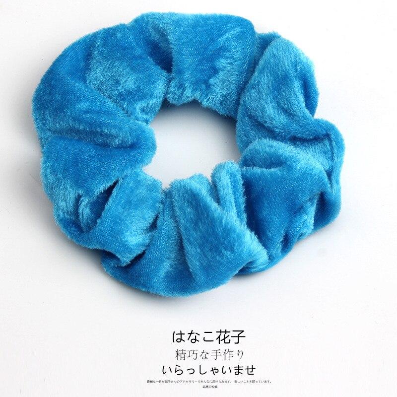 Женские бархатные резинки для волос, одноцветные резинки для волос, заколки для волос, эластичные резинки для волос, аксессуары для волос, головные уборы - Цвет: 5