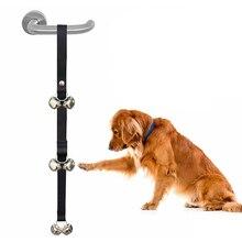 3 цвета нейлоновая Регулируемая тренировочная веревочка для дверного звонка 6/7 колокольчики Doggy Doorbells тренировочные аксессуары для домашних животных, собак Поставка игрушек для домашних животных