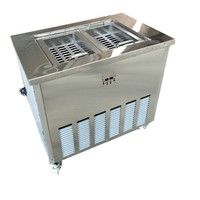 Commercial Stainless steel double molds popsicle making machine|Ice Cream Makers| |  -