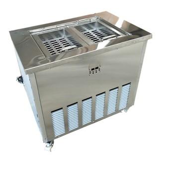 Komercyjna stal nierdzewna podwójne formy maszyna do robienia lodów tanie i dobre opinie 1501 ml Chłodzenie powietrzem KN-BBJ-2 2 molds NoEnName_Null 1800w Popsicle machine 110kg 3000 220v Water cooling air cooling