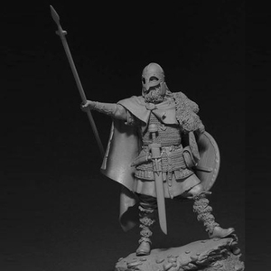 Image 4 - 1/24, Viking Spearman Resin kit Figure GK Historical and humanistic themes Ancient war Uncoated No colour