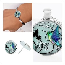 New Hummingbird Set Woodpecker animal pendant Necklace small Bird Bee peace pigeon set Free bird lucky necklace charm Jewelry