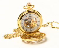 2010 Elegant Gold Tone Argent Blossom Pocket Watch Chain Freeship Hot
