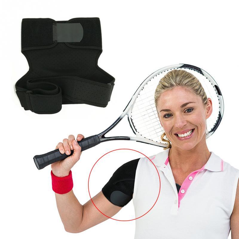 Soporte deportivo ajustable de un solo hombro ergonómico almohadilla ... 102a2752eb4d
