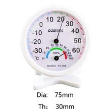 Odatime 75 мм * 30 мм часы-форма гигрометр термометр закрытый открытый температура измеритель влажности Датчик для спальни