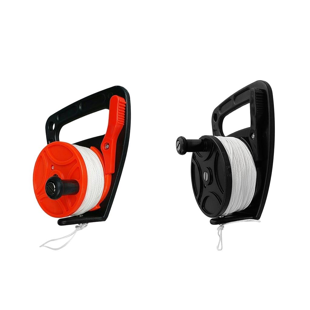 Scuba Diving Wreck SMB Dive Reel Kayak Anchor Handle Portable Diving Equipment 50ft Line Orange/Black(China)