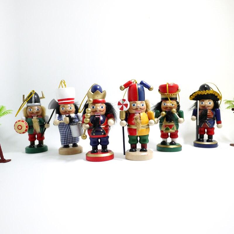 ჱHt004 envío libre títeres muñeca 10 cm Cascanueces madera niños ...