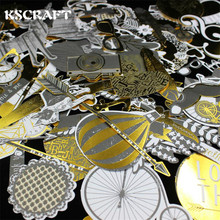 KSCRAFT 134pcs Colorful Cardstock Die Cuts for Scrapbooking/Card Making/Journaling Project DIY