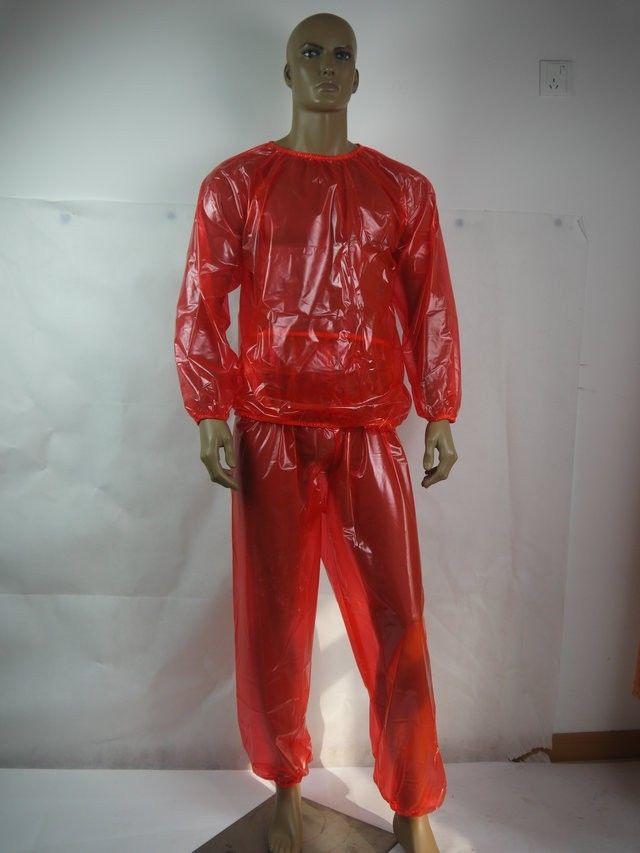 PVC unisex inkontinens jogging suit # P013-8, Storlek: L / XL / XXL