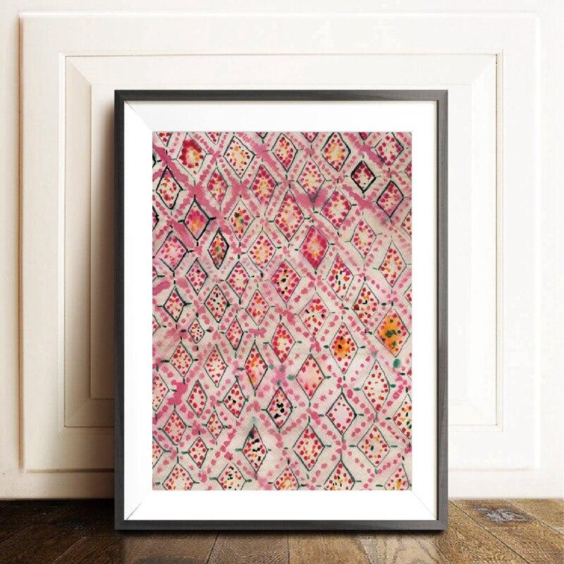 Vintage Pink Rug Art Prints Boho Wall Decor Eclectic ... on Modern Boho Wall Decor  id=99068