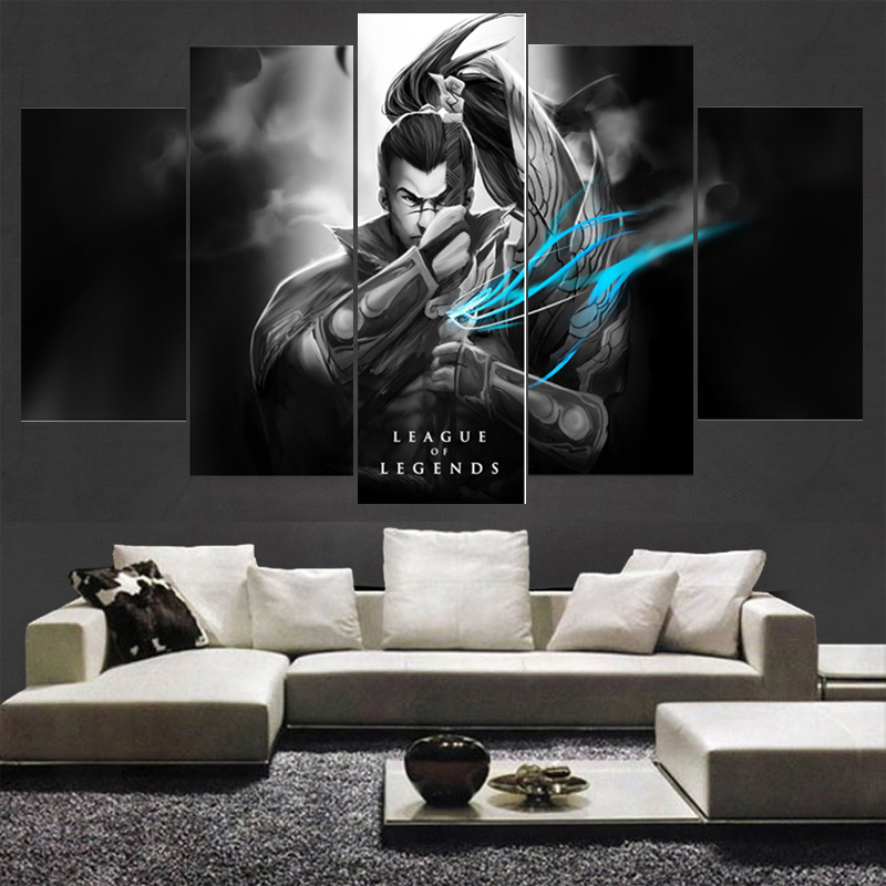 5 Piece Canvas Art HD Print Game League of Legends Painting Wall For Living Room