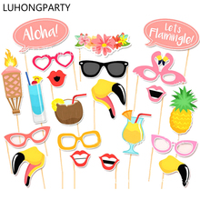 20pcs 2017 New Wedding Decoration Photo Booth Props Funny Glasses Flamingo Mouth Fruit Birthday Party Supplies Photobooth