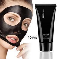 10 PCS PILATEN Black Mask Facial Mask Nose Blackhead Remover Peeling Peel Off Black Head Acne