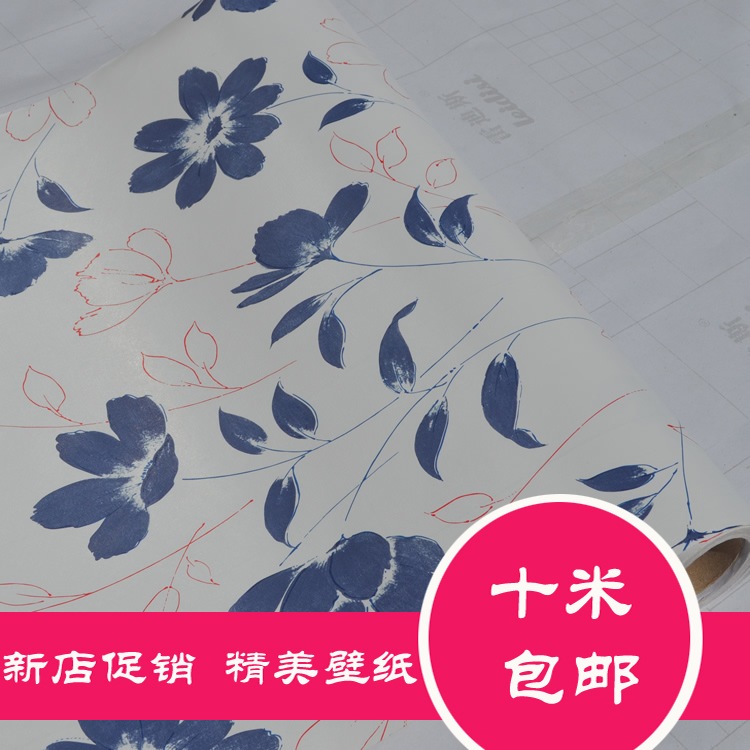 10m*45cm New Free shipping  wall stickers Wall coil Pvc wallpaper tv background wall decorative films pattern rustic furniture creative flower pattern tv background 60 90cm pvc wall stickers
