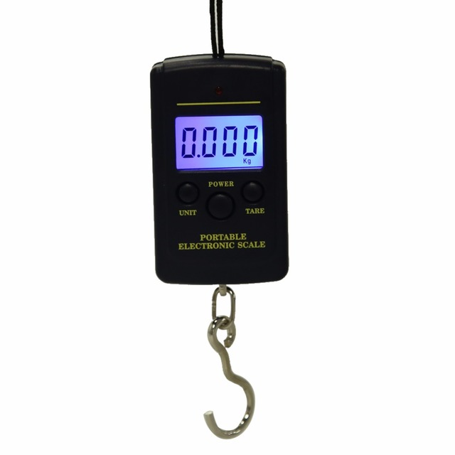 1pc 40kg/10g Mini Digital Scale Multifunction LED Kitchen Pocket Scales Portable Electronic Scale Hanging Hook Weighting