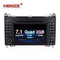 כולל 4 גרם M518 Android7.1 טהור Quad core המכונית GPS wifi BT נגן DVD עבור מרצדס/נץ B200 A160 ויאנו ויטו מגבר IC 7851