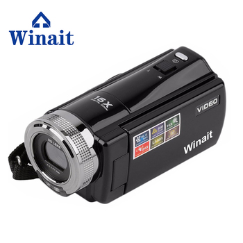 WinaiDigital Video Camera HD Cam 16X Digital Zoom 270 degrees of revolution Face recognition, smile face detection 2.7'' TFT LCD