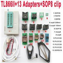 TL866II Plus USB programmer + 13 adapters IC Clip 1.8V nand flash 24 93 25 mcu Bios EPROM F/ NAND EEPROM MCU PIC IC Tester
