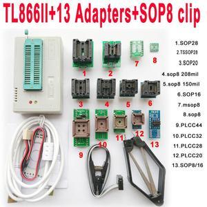 Image 1 - TL866II Plus USB programmer + 13 adapters IC Clip 1.8V nand flash 24 93 25 mcu Bios EPROM F/ NAND EEPROM MCU PIC IC Tester