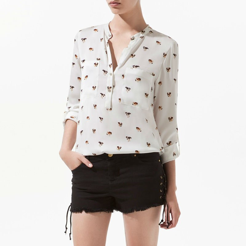 Popular Womens Collarless Shirt-Buy Cheap Womens Collarless Shirt ...