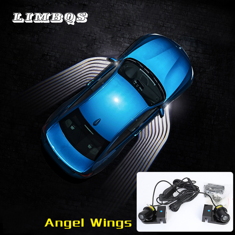 Hot angel wings for f10 f11 <font><b>bmw</b></font> 5 series LED welcome light ghost <font><b>shadow</b></font> courtesy door exterior warning light carpet ground lamps image