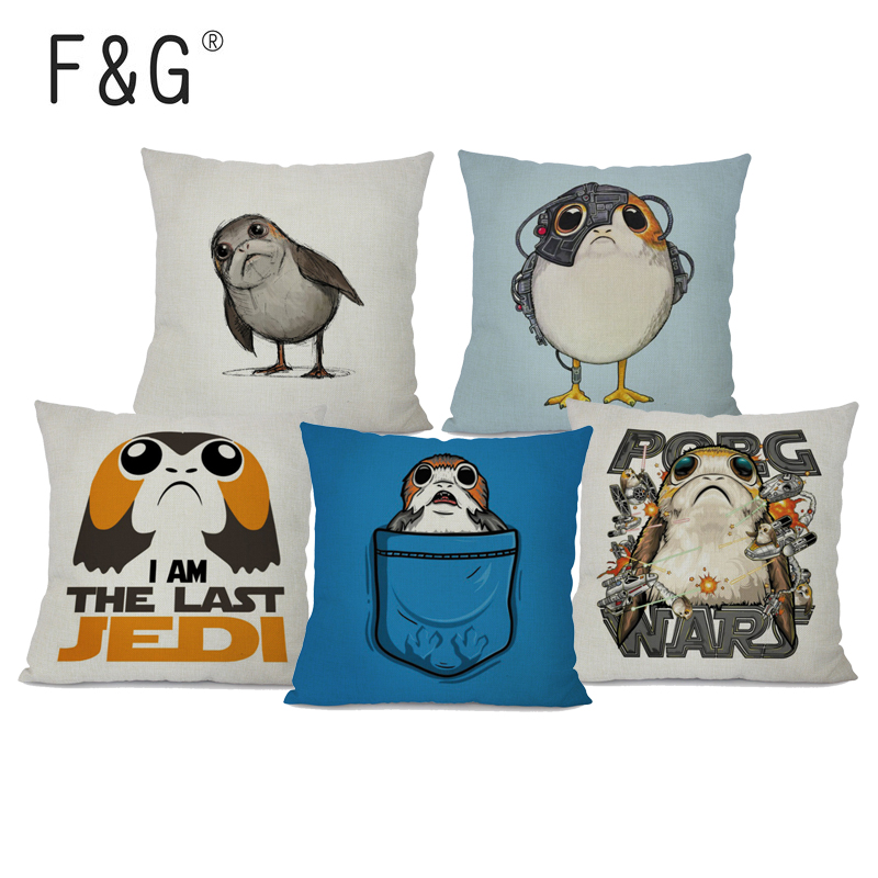 Strange Us 2 93 39 Off Porg Cushion Cover Cotton Linen Star Wars Digital Printed Home Decorative Sofa Throw Pillow Case For Sofa Chair In Cushion Cover From Creativecarmelina Interior Chair Design Creativecarmelinacom