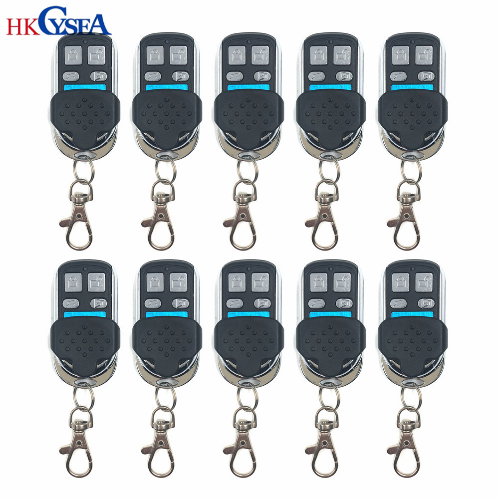 10pcs lot Best Price 3 buttons 315 433MHZ Fixed Rolling Code Metal Remote Key for H618