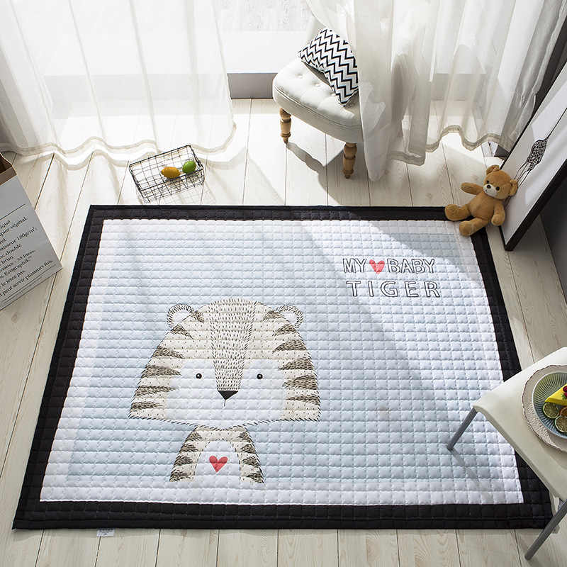 12 tipos 145*195 centímetros INS dos desenhos animados algodão tapete mural crianças almofada Escandinavo simples jogo de escalada tapete casa têxtil