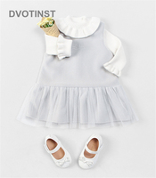 Dvotinst Newborn Baby Girls Clothes Bodysuits Dresses Lace Swan Plush Baptism Dress Cute Outfits Infant Toddler Jumpsuit Costume