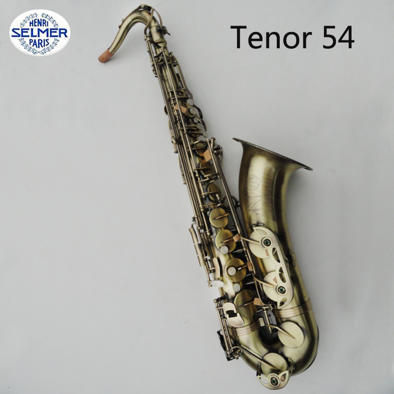 Henri Selmer Bb Tenor Saxophone Drop B Saxophone Instruments Reference 54 Bronze Sax Musical Instruments With Case
