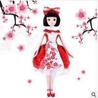 A0355 Najlepsza dziewczyna prezent Kurhn Chińskiej Lalki Bajki Wiosna Chiński Prezent Tradycyjny Strój krótkie włosy Japoński dziewczyna