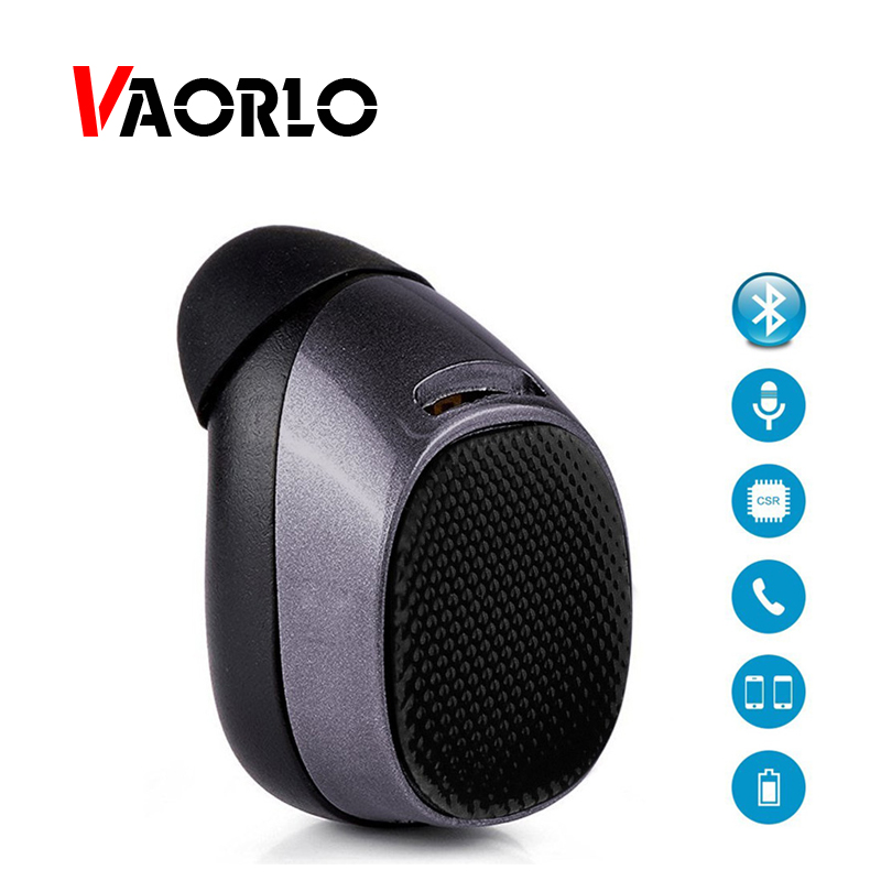 VAORLO Mini Wireless Bluetooth Earphone In Ear Earbuds Handsfree Sport Headset Bluetooth 4.1 Invisible Earpiece With Microphone