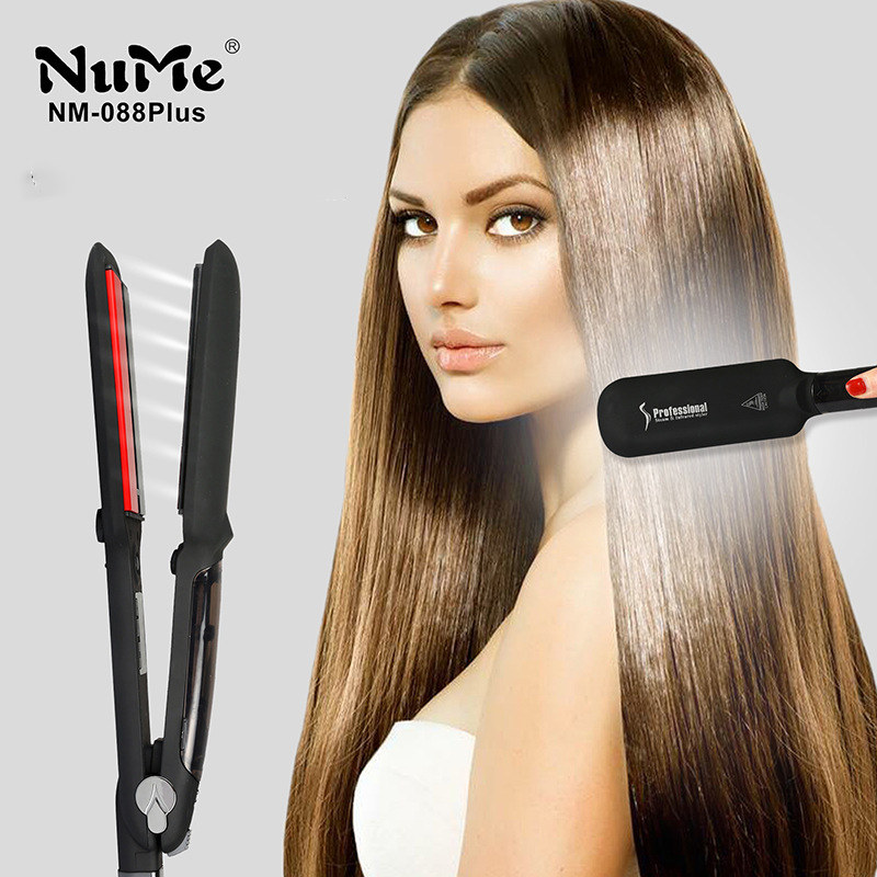 Steam Hair Straightener Infrared Heating Flat Iron LED Display straightening Iron 2 Inch salon Styling Tools Wet & Dry hairstyle