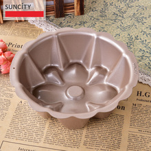 6inch Double Layer Nonstick Metal Flower Cake Mold Confeitaria Stencil Dish Kitchen Bread Loaf Pans Tray 3D Forms For Baking