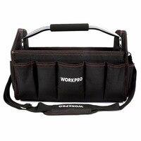 WORKPRO 16 Tool Bag Organizer Tool Storage Bag Tool Kits Shoulder Bag Handbag 600D Polyester Foldable