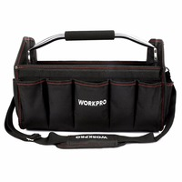 WORKPRO 16 Tool Bag Organizer Tool Storage Bag Tool Kits Shoulder Bag Handbag 600D Polyester Foldable
