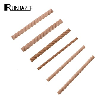 RUNBAZEF Wooden Carved Woods Twist Lines Style Decorative Indoor Door Semi Home Decoration Accessories Figurines Miniatures 1