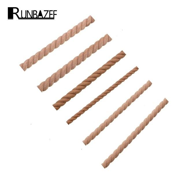 RUNBAZEF Wooden Carved Woods Twist Lines Style Decorative Indoor Door Semi Home Decoration Accessories Figurines Miniatures 1