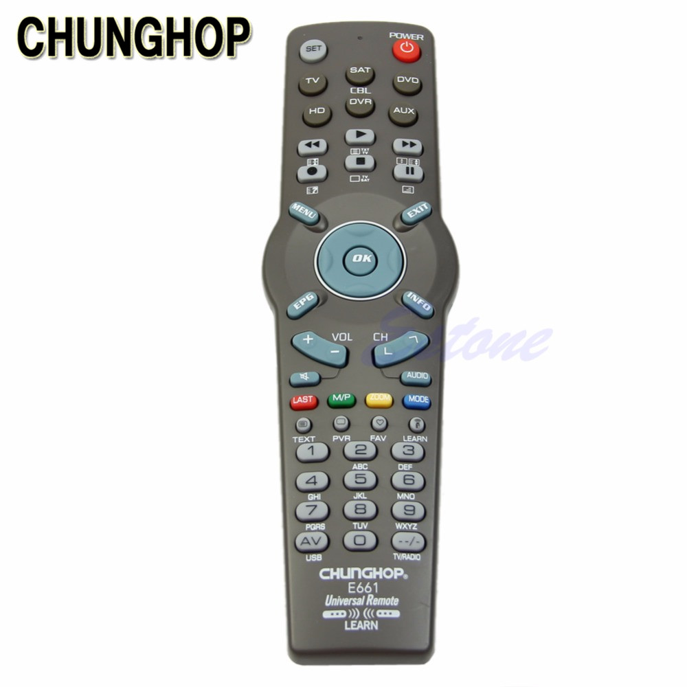 CHUNGHOP TV Remote Control 6 in 1 Universal Learning Remote Control  Controller For TV CBL DVD AUX SAT AUD