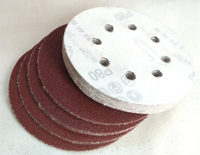 Abrasive Tools Enthusiastic 25pcs 125mm Hook & Loop Abrasive Sand Paper 5 Inch Red Sanding Disc With 8 Holes Grits 40~2000 Available Agreeable To Taste