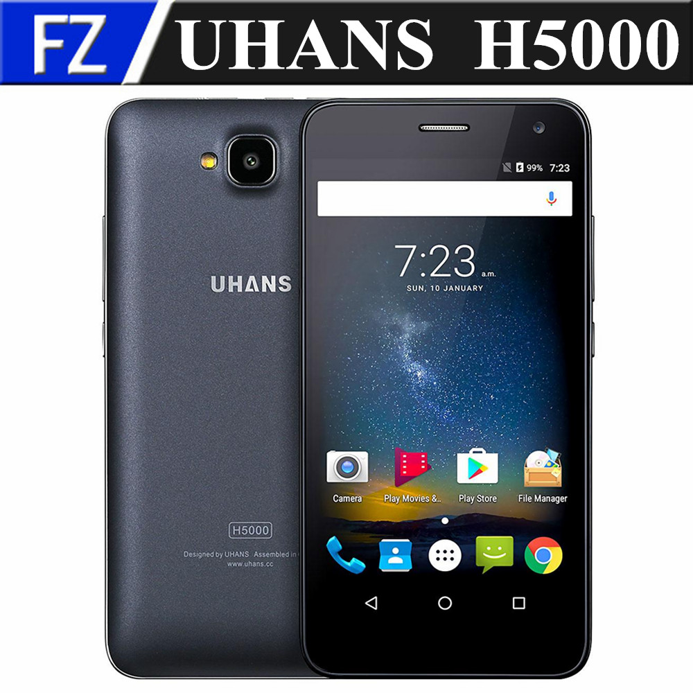 "bilder für Original UHANS H5000 5,0 ""Gorilla-glas 4 HD MTK6737 quad core Android 6.0 4G LTE smartphone 8MP 3 GB RAM 32 GB ROM OTG 4500 mAh"
