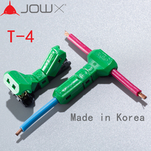 цена на JOWX T-4 10PCS For 14-13AWG 2.5SQMM Non-stripped Wire Cable Wiring Connector T-Joint Quick Splice Crimp Terminals From Korea