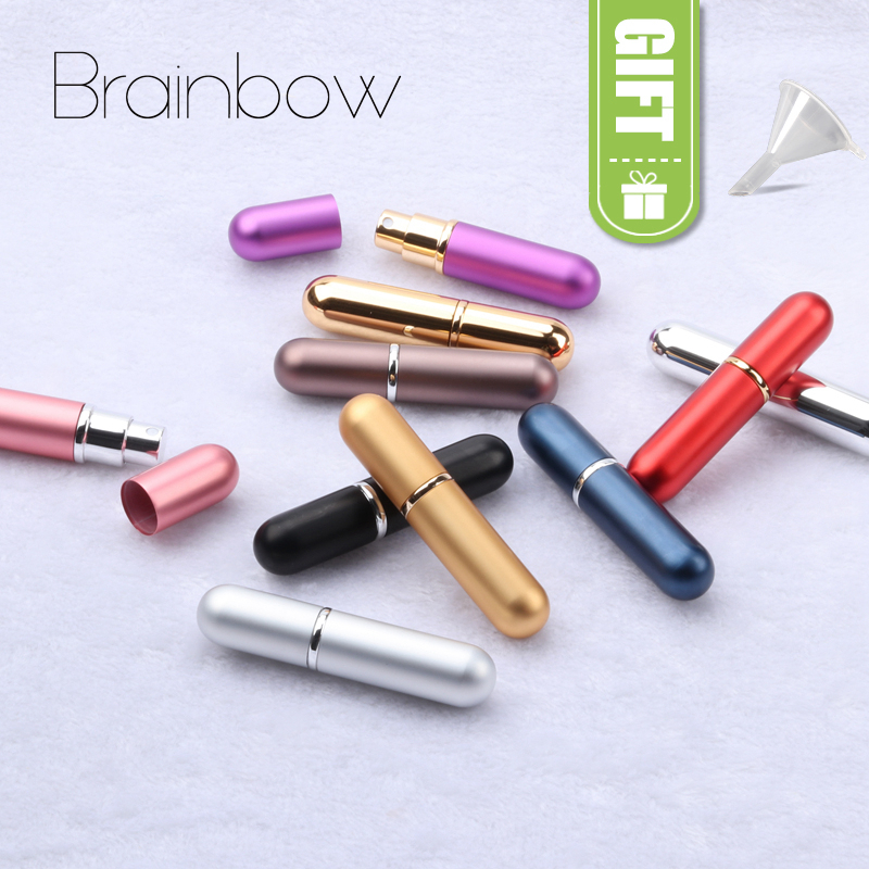 Brainbow 1piece 6ml Perfume Spray Bottle Portable Travel Refillable Bottle Empty Cosmetic Containers Perfume Atomizer Scent Case