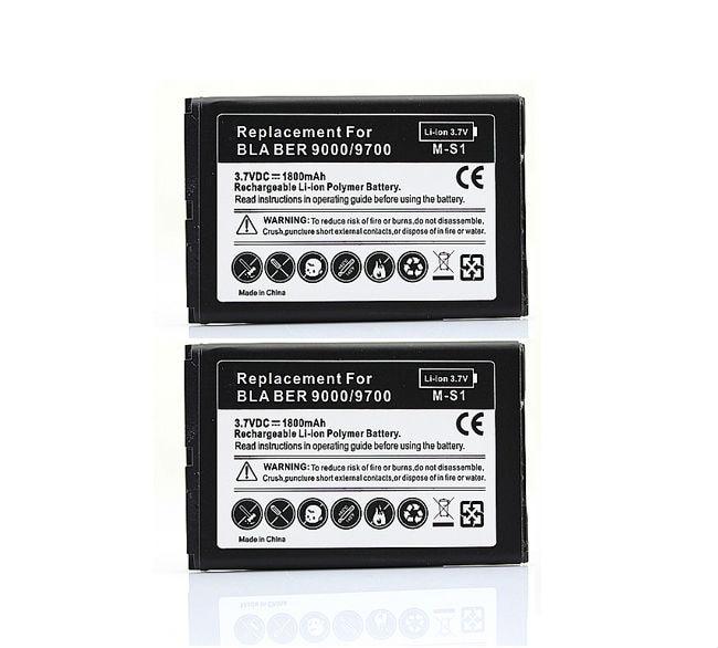 2X טלפון החלפת 1800 mah סוללה עבור Blackberry bold 9000 9700 9780 גיבוי טלפון נייד Bateria סוללות
